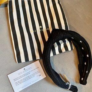 NEW Lele Sadoughi black sparkle headband